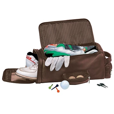 Royce Leather Golf Shoe and Accessory Bag, Coco, Gold Foil Stamping, Full Name