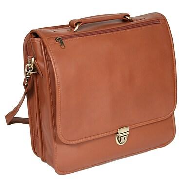 Royce Leather Laptop Organizer Briefcase Tan