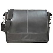 Royce Leather Laptop Messenger Bag, Black