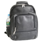 Royce Leather Colombian Vaquetta Deluxe Laptop Backpack, Black