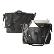 """Royce Leather Deluxe Expandable 17"""" Laptop Brief Black"""