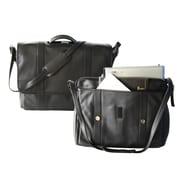 Royce Leather - Mallette de luxe expansible pour portatif, 17 po, noir