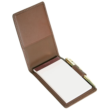 Royce Leather Flip Style Note Jotter, Coco