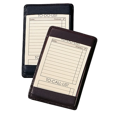 Royce Leather – Bloc-notes, noir, estampage argenté, nom complet