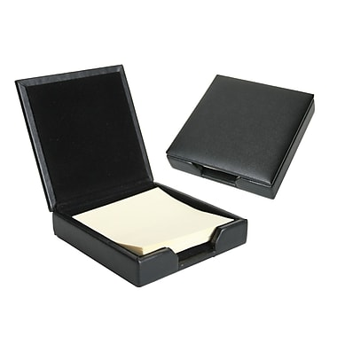 Royce Leather Post It Holder, Black