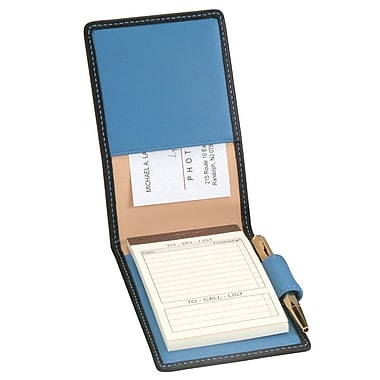 Royce Leather Deluxe Flip Style Note Metro Collection Royce Blue