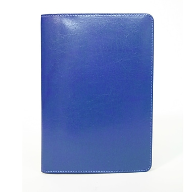 Royce Leather Aristo Journal, Malibu Blue, Silver Foil Stamping, 3 Initials