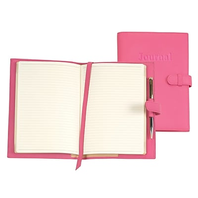Royce Leather Nappa Leather Journal Wildberry