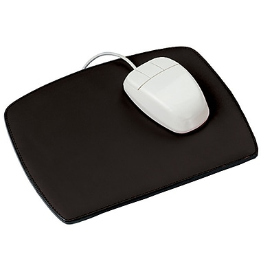Royce Leather – Tapis de souris, noir, estampage or, 3 initiales