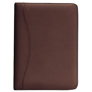 Royce Leather – Porte-documents d'écriture Junior, coco, estampage or, 3 initiales