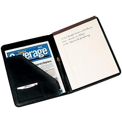 Royce Leather Writing Padfolio Black 6 Slots 397325