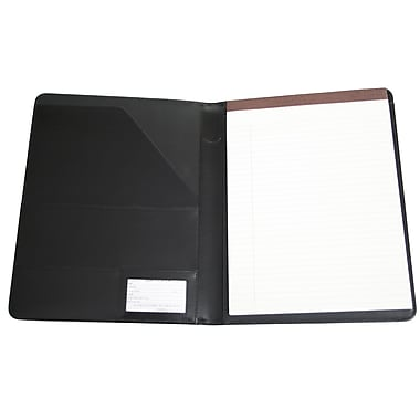 Royce Leather – Porte-document classique, noir, estampage argenté, 3 initiales