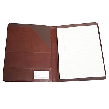 Royce Leather – Porte-documents classique, brun britannique, estampage doré, 3 initiales