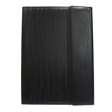 Royce Leather – Porte-documents et organisateur, noir, estampage or, 3 initiales