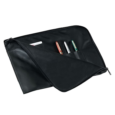 Royce Leather – Porte-documents et organisateur, noir, estampage or, nom complet