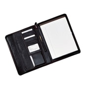 Royce Leather Black Leather Zippered Writing Document Organizer (OS-MFL756-BLK)