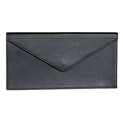 Royce Leather Document Envelope, Black