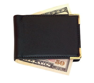 Royce Leather Large Magnetic Money Clip Black