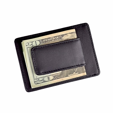 Royce Leather Prima Magnetic Money Clip Wallet Black
