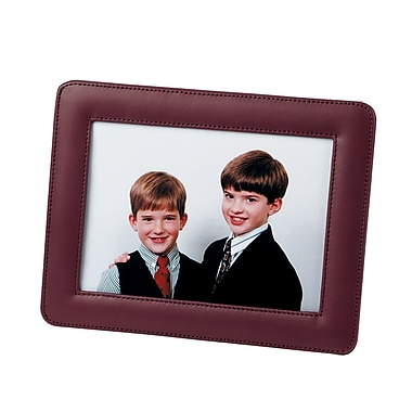 Cadre photo simple de Royce Leather, 5 x 7 po, bourgogne