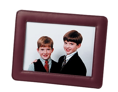 Royce Leather Top Grain Nappa Leather 5 X 7 Frame Burgundy