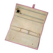 Royce Leather Jewelry Roll Carnation Pink