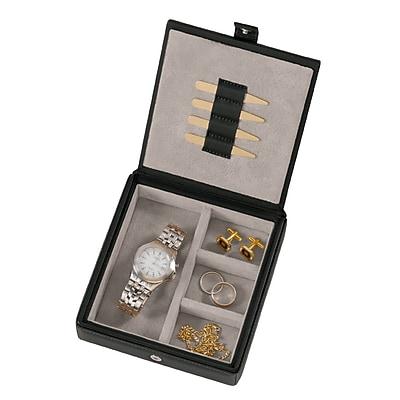 Royce Leather Watch Cufflink Box Black