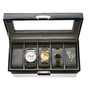 Royce Leather  Slot Watch Box Brown