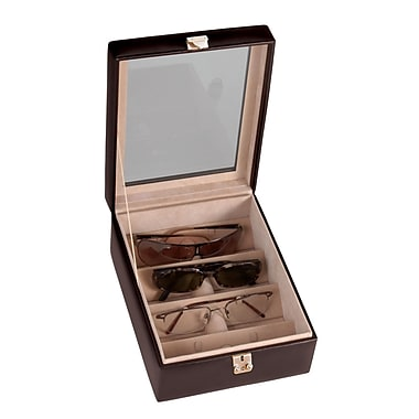 Royce Leather 4 Slot Eyeglass Box, Coco