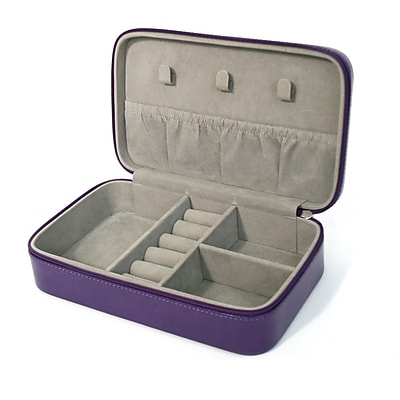Royce Leather Jewelry Case, Plum