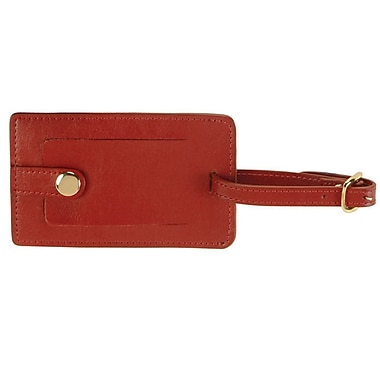 Royce Leather Snap Luggage Tag Red