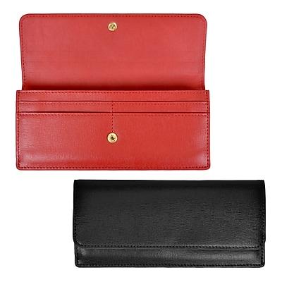 Royce Leather Women's Wallet, Black, 5oz