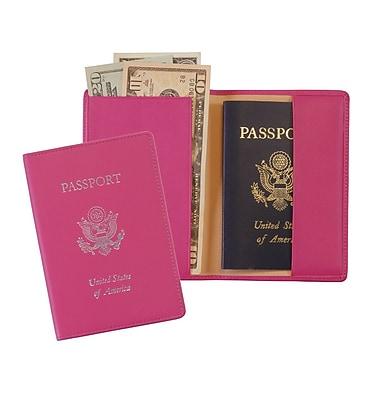 Royce Leather Stamped Passport Jacket, WildBerry