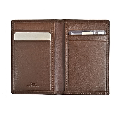 Royce Leather Hanover Blocking Card Case, Coco