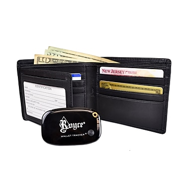 Royce Leather Freedom Wallet For Men, Black, Silver Foil Stamping, 3 Initials