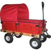 Millside Industries Classic Wood Wagon with Pads and Half Canopy