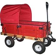 "Millside Industries Hardwood 20"" x 38"" Kids Wagon, Red"