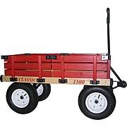 "Millside Industries Hardwood 20"" x 38"" Wooden Wagon"