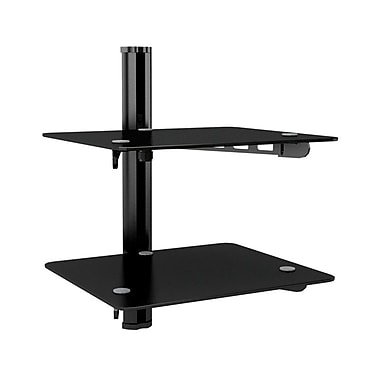 Sonax Component Tempered Glass Wall Shelf, Black