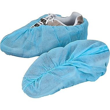 Zenith Safety® Non-Conductive Shoe Covers, Regular Sole, Large, 1000/Pack