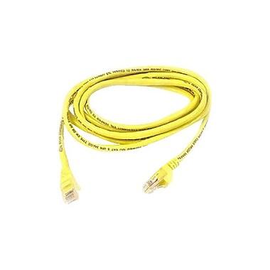 Belkin™ 5' Cat5e RJ45/RJ45 Assembled Duplex Patch Cable, Yellow