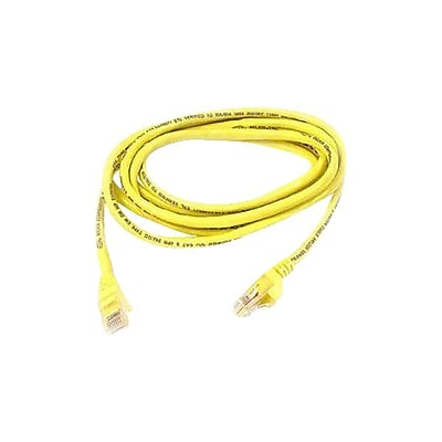 Belkin A3L791-06-YLW-S 6' CAT-5e RJ-45 Snagless Patch Cable, Yellow