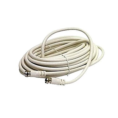 STEREN BL-215-425WH 25' RG6 Coaxial Cable, White