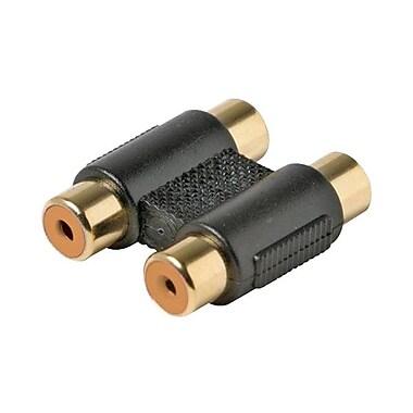 STEREN® Audio/Video In Line Coupler Adapter, Black