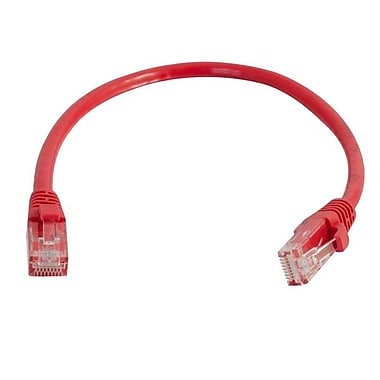 C2G® Cat5e Snagless Network Cable, 150', Red