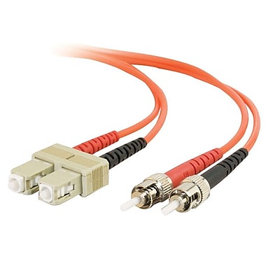C2G® SC-ST Multimode Fiber Optic CBL, 10m, Orange