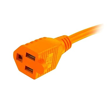 C2G® Power Extension Cable, 50', Orange