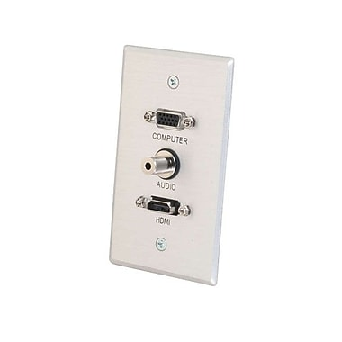 C2G® Aluminum Wall Plate, 3.5mm