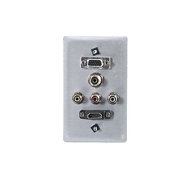 C2G® 3.5mm Wall Plate, Brushed Aluminum