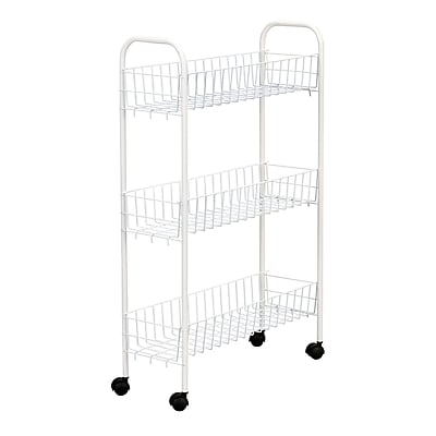 Https://www.staples 3p.com/s7/is/. ×. Images For Household Essentials®  Slimline 3 Tier Storage Utility Cart, White